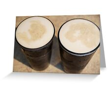 """""""Beer's so frothy, smooth and cold-- It's paradise--pure liquid gold."""" Greeting Card"""
