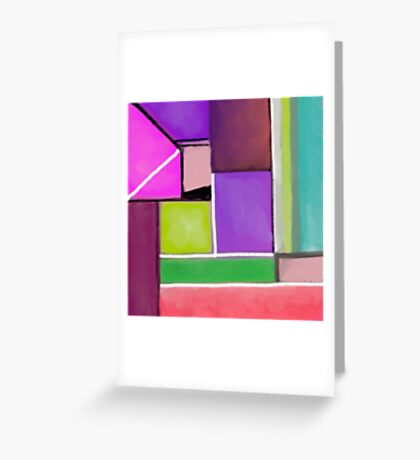 Color blocks Greeting Card