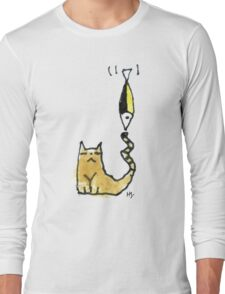 Cat Juggeling with Fish Long Sleeve T-Shirt
