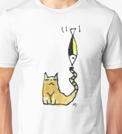 Cat Juggeling with Fish Unisex T-Shirt