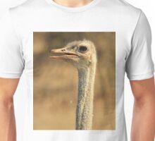 Ostrich Profile - African Wild Bird Backgrounds - Wild Neck Unisex T-Shirt