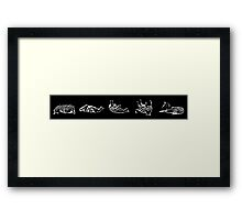 They See Me Rolling v2 Framed Print
