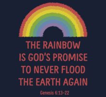 Rainbow God's Promise Genesis 6:13-22 T Shirt One Piece - Short Sleeve