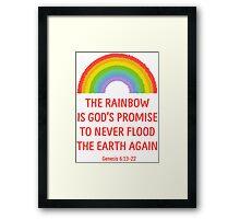 Rainbow God's Promise Genesis 6:13-22 T Shirt Framed Print
