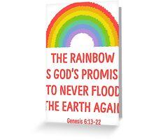 Rainbow God's Promise Genesis 6:13-22 T Shirt Greeting Card