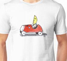 Moonman drives his Car Unisex T-Shirt