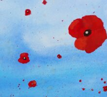 floating poppies Sticker
