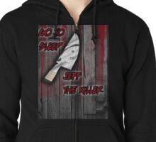 Jeff The Killer-Go to Sleep Zipped Hoodie