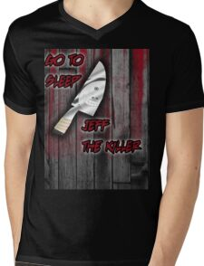 Jeff The Killer-Go to Sleep Mens V-Neck T-Shirt