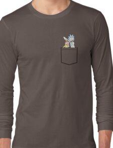 rick and morty pocket Long Sleeve T-Shirt