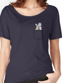 rick and morty pocket Women's Relaxed Fit T-Shirt