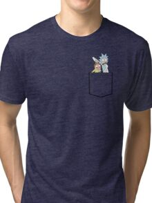 rick and morty pocket Tri-blend T-Shirt