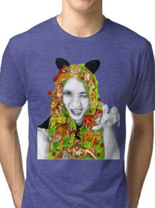 Cats girl Tri-blend T-Shirt