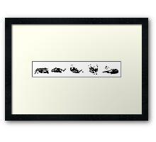 They See Me Rolling v3 Framed Print