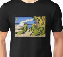 'Temple Bridge' by Katsushika Hokusai (Reproduction) Unisex T-Shirt