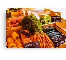 French Vegetables Canvas Print