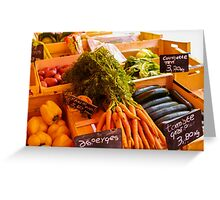 French Vegetables Greeting Card