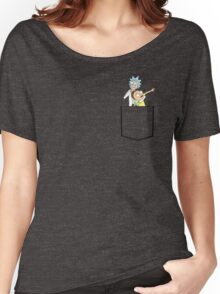 rick and morty pocket v2 Women's Relaxed Fit T-Shirt