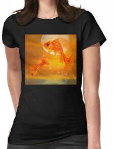 Leaping Fish Womens Fitted T-Shirt