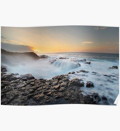 High Surf - Kauai Poster