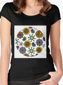 colorful doodles Women's Fitted Scoop T-Shirt