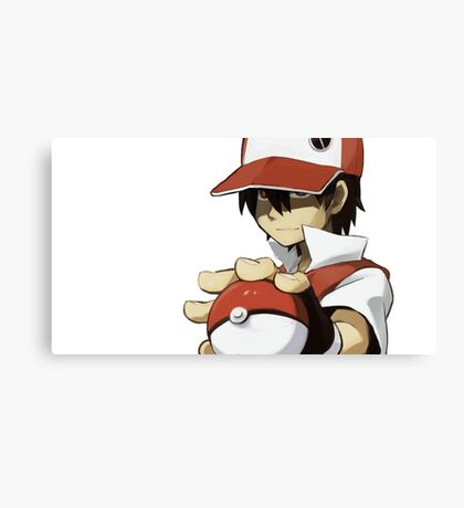 PKMN TRAINER RED Canvas Print