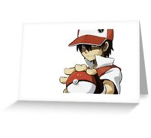PKMN TRAINER RED Greeting Card