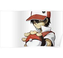 PKMN TRAINER RED Poster