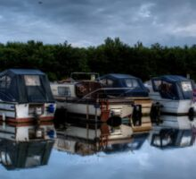 Tranquillity in the moorings Sticker