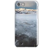 Frozen Lake with mountains  iPhone Case/Skin
