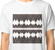 Modern Chic Rose Gold Black and White Triangles Classic T-Shirt