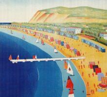 Vintage Cattolica summer beach Italian travel advert Sticker