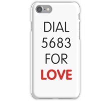 Dial 5683 for LOVE iPhone Case/Skin