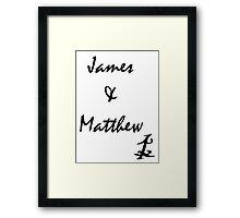 James and Matthew Framed Print