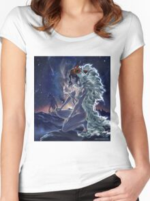 San. Mononoke princess fanart. Women's Fitted Scoop T-Shirt