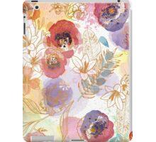 Watercolor Flowers iPad Case/Skin