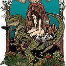 Dino Girl Volcano by ZugArt