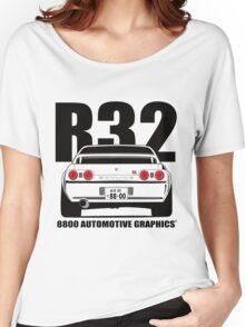 Nissan R32 Skyline GTR Transparent Version Women's Relaxed Fit T-Shirt
