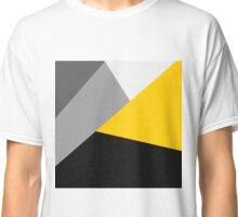 Simple Modern Gray Yellow and Black Geo Classic T-Shirt