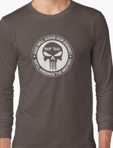 god will judge our enemies we'll arrange the meeting Long Sleeve T-Shirt