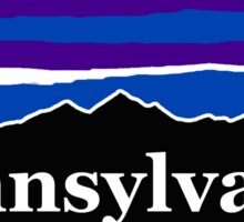 Pennsylvania Midnight Mountains Sticker