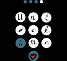 Unlock Me (guarded heart) Sticker