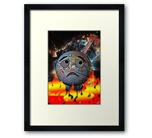 Earth and global warming Framed Print