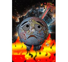 Earth and global warming Photographic Print