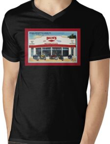 Fifties classic motorcycles dealership Fort Worth Texas Mens V-Neck T-Shirt