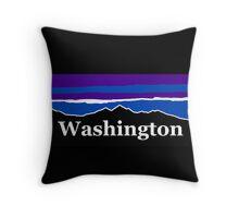 Washington Midnight Mountains Throw Pillow