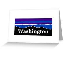 Washington Midnight Mountains Greeting Card