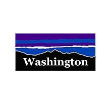 Washington Midnight Mountains Photographic Print