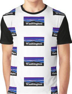 Washington Midnight Mountains Graphic T-Shirt