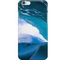 blue ice cave iPhone Case/Skin